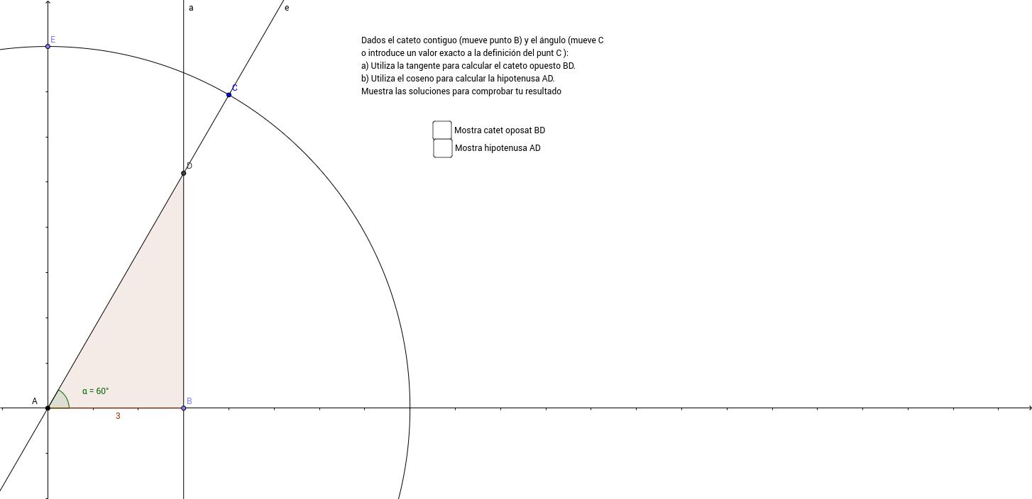 Resolución triángulos ángulo + cateto