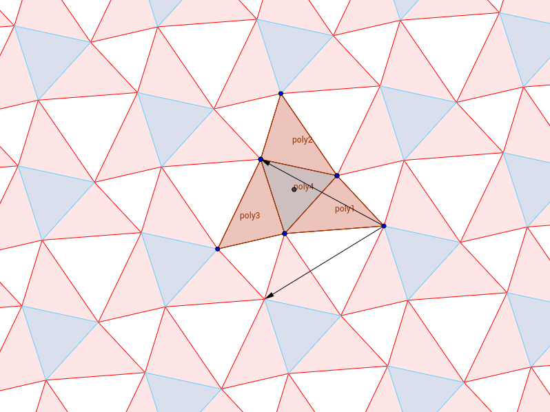 array of equilateral triangles modified