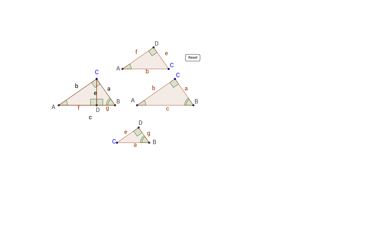 Similar Right Triangles GeoGebra – Similar Right Triangles Worksheet