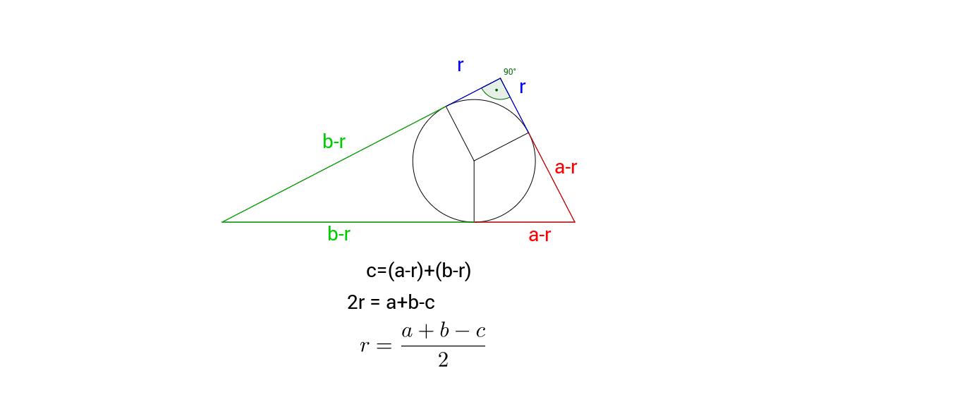Inkreisradius eines rechtwinkligen Dreiecks