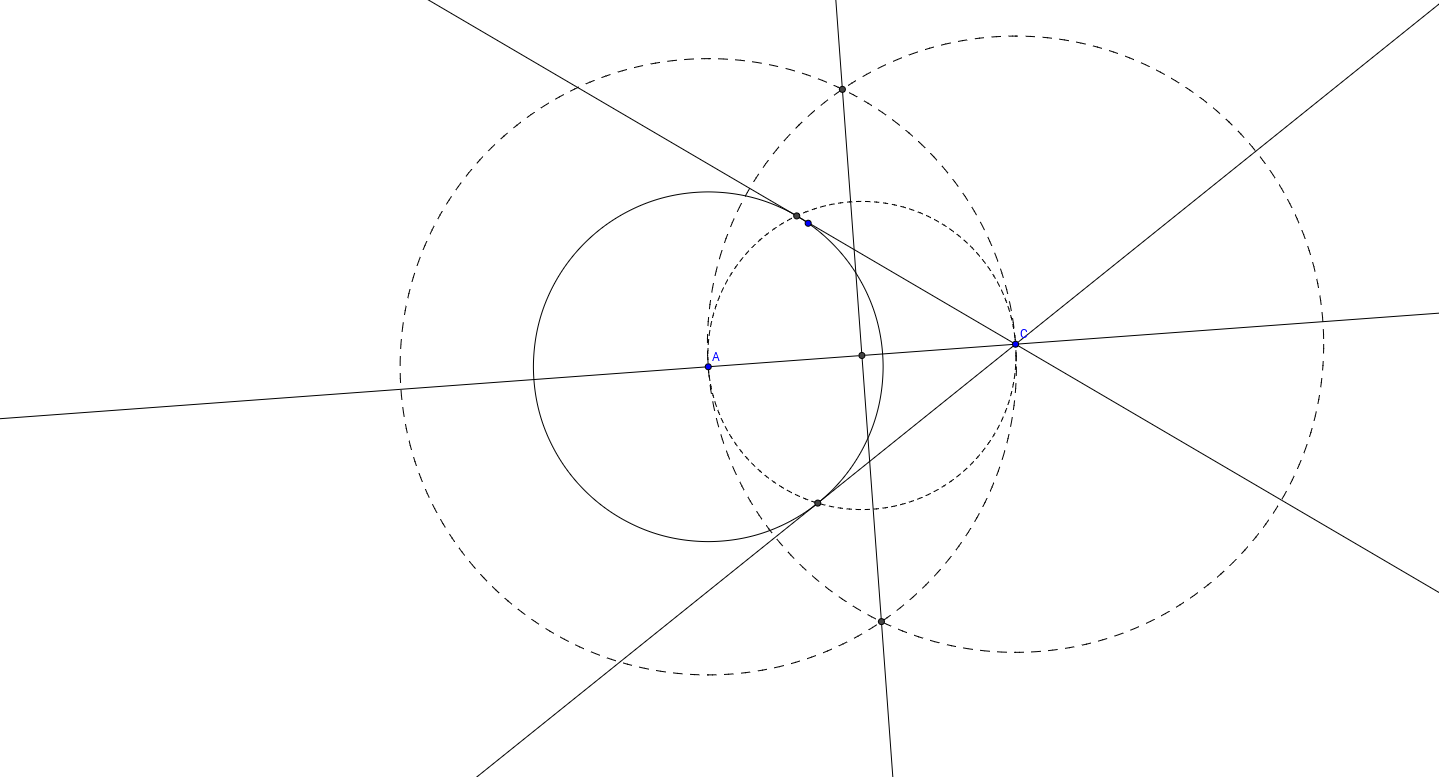 Recta Tangente a una CIrcunferencia por un punto fuera de e