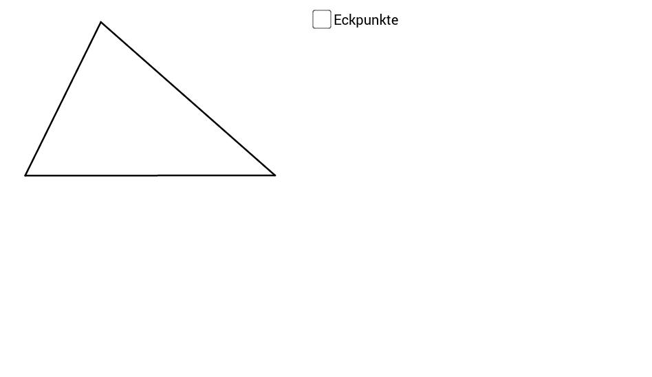 Beschriftung eines Dreiecks