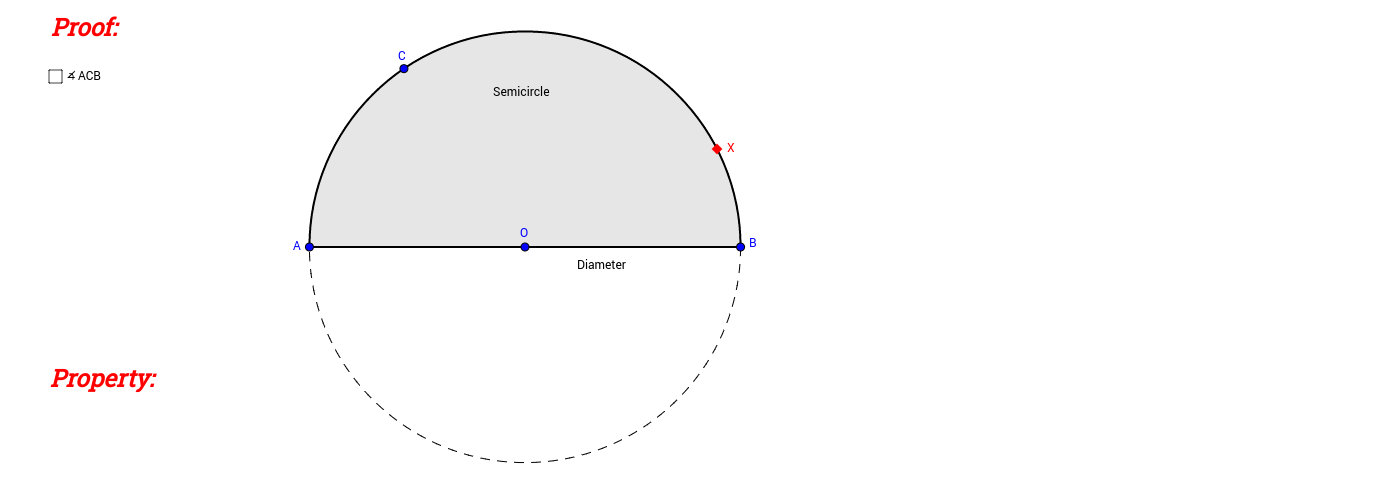 Angle in Semicircle (Proof)