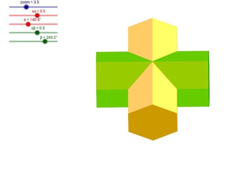 Dwa graniastosłupy sześciokątne