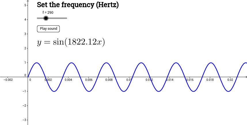 Play sine wave