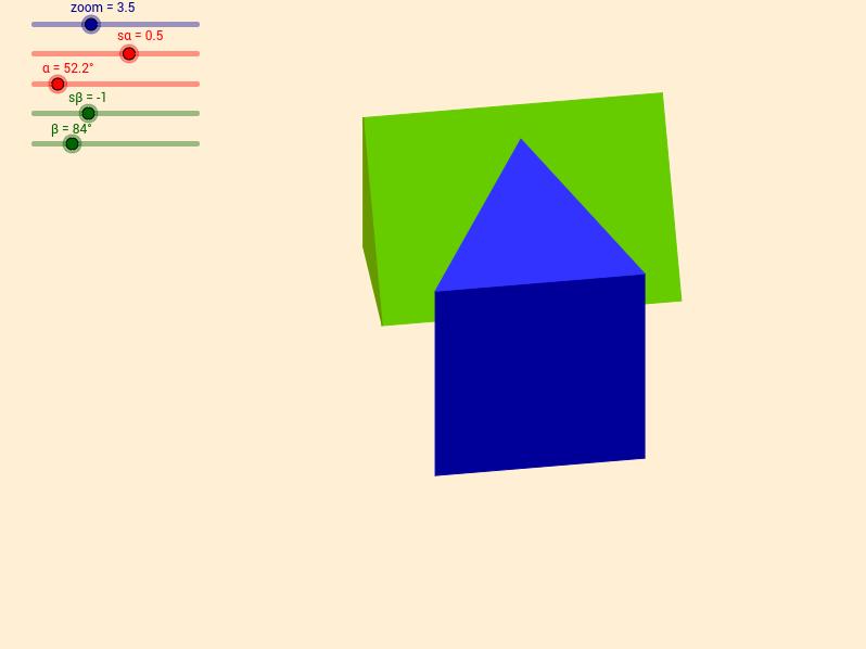 Dwa graniastosłupy prawidłowe trójkatne