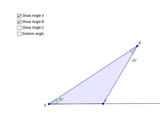 Adjustable Triangle: Exterior angle