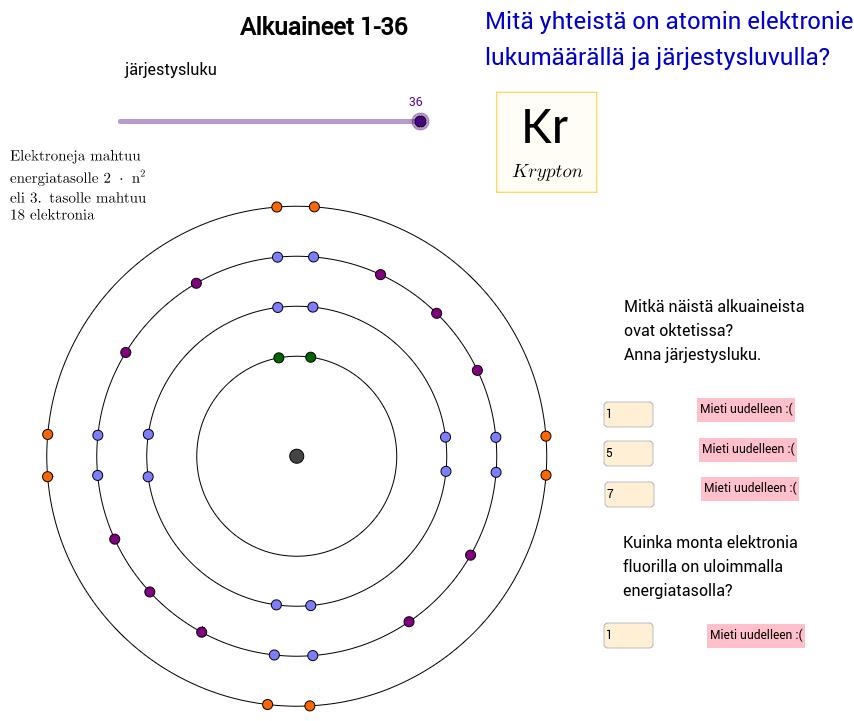 Alkuaineet 1-36