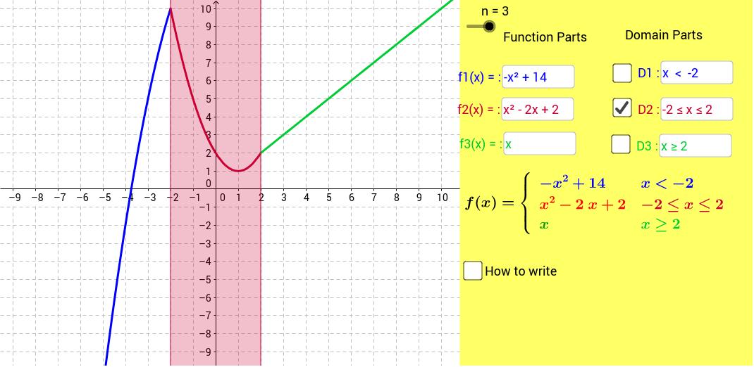 1 2 or 3 Part Piecewise Function GeoGebra – Graphing Piecewise Functions Worksheet