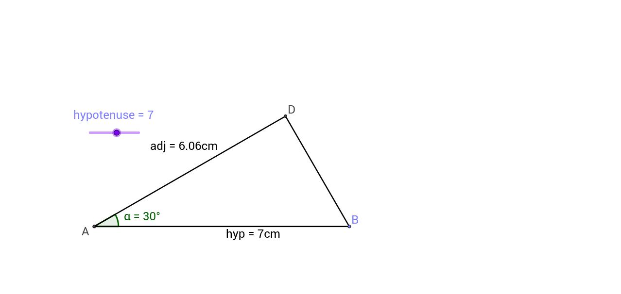 Exploring cosine in a 30,60,90 triangle
