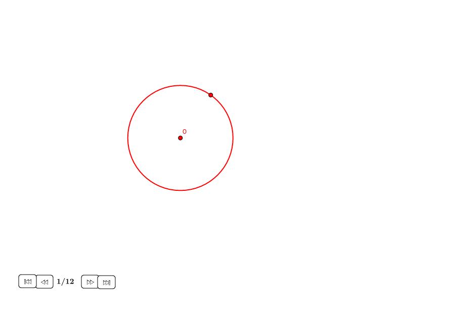 Cuadrado alrededor de un círculo