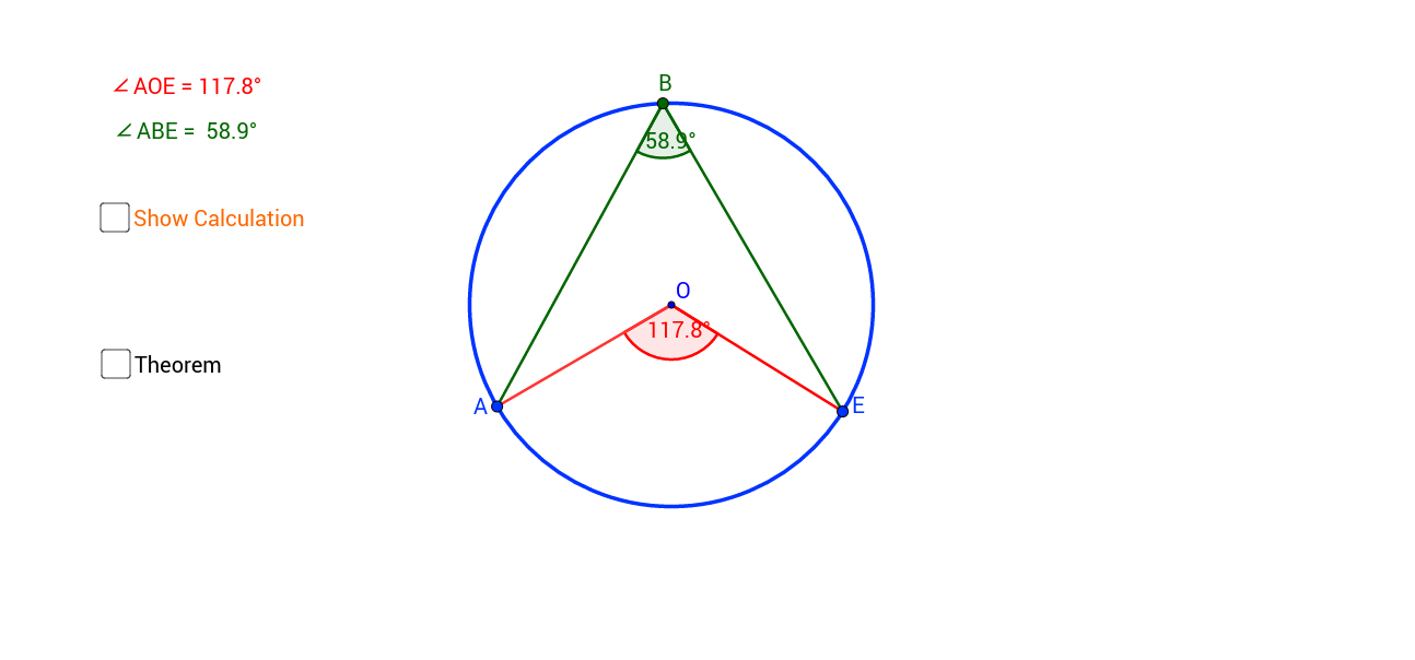 Angles at the Centre and Circumference