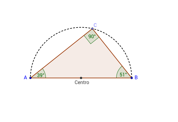 Triangoli inscritti in una semicirconferenza