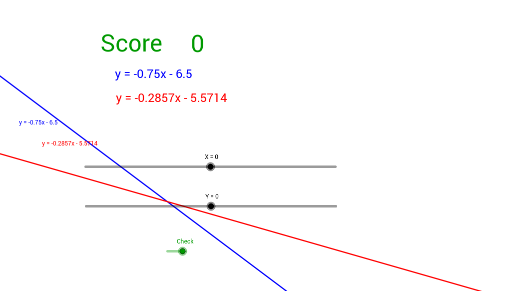 Solve a system of linear equations in slope-intercept form.