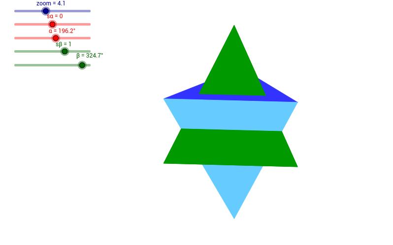 Dwa przenikające się ostrosłupy trójkątne
