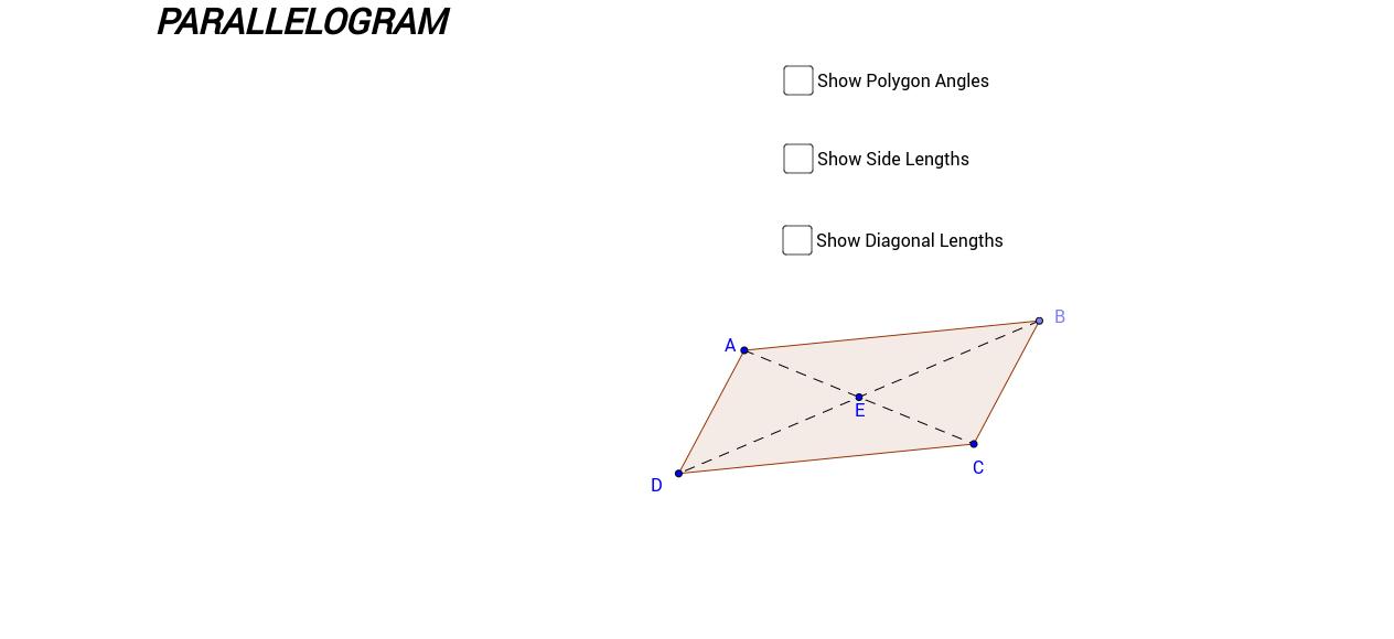 Paralellogram - measurements