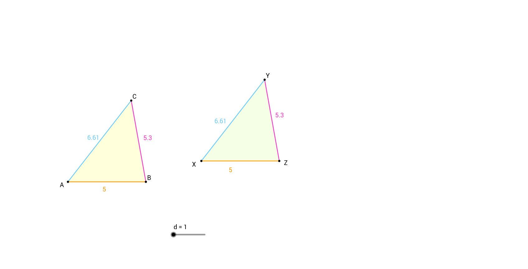 worksheet Similar Triangles Proportions Worksheet theorem 13 similar triangles geogebra view worksheet