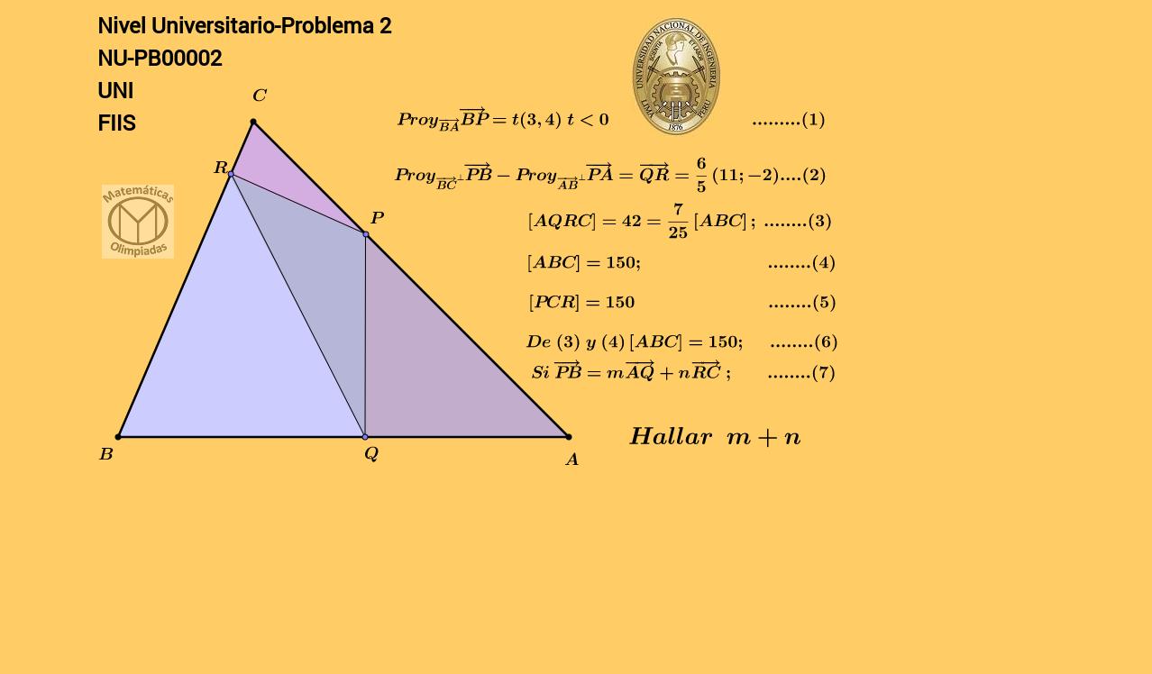 Problema de geometría vectorial
