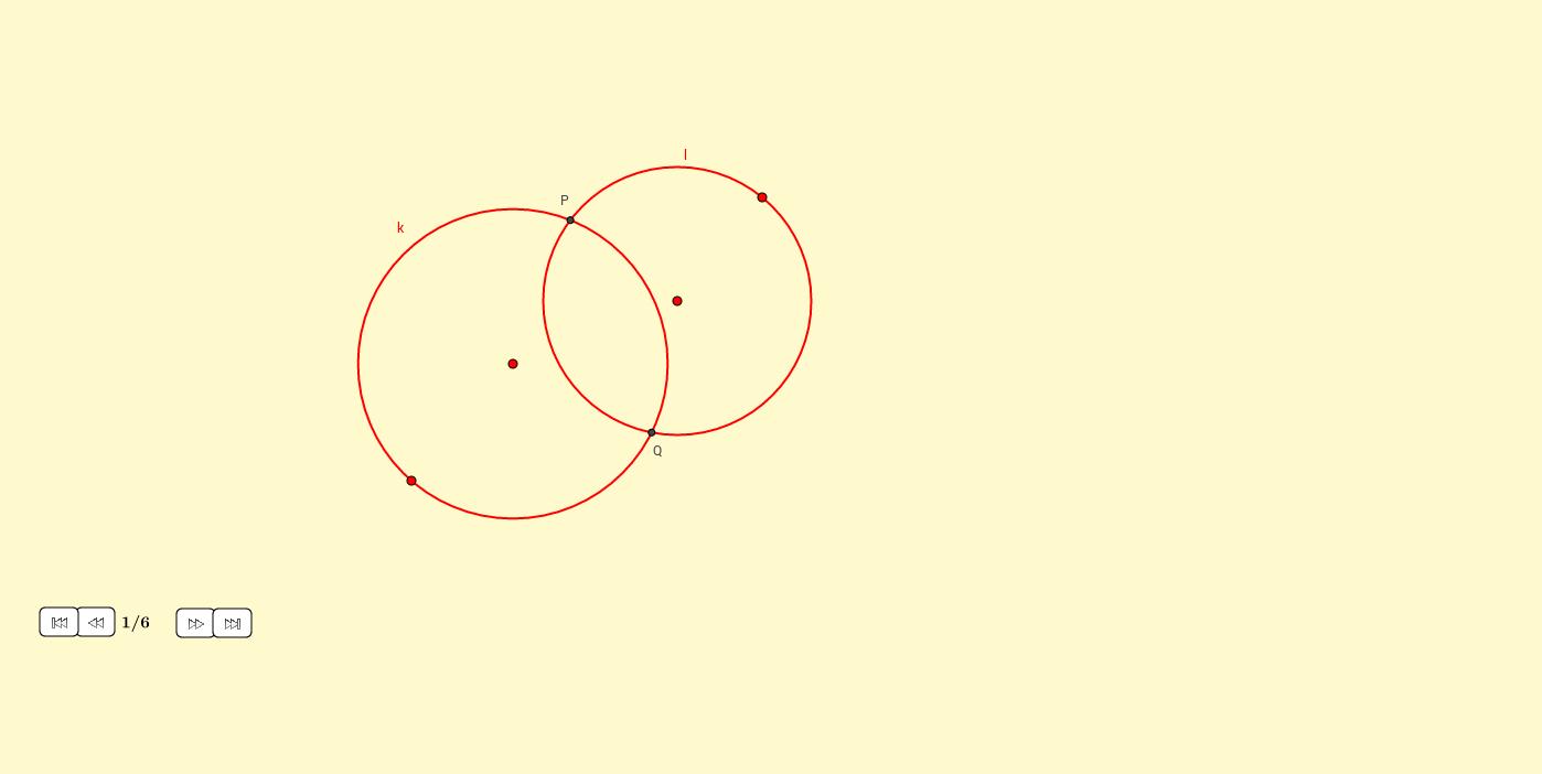 Segmentos iguales en dos circunferencias