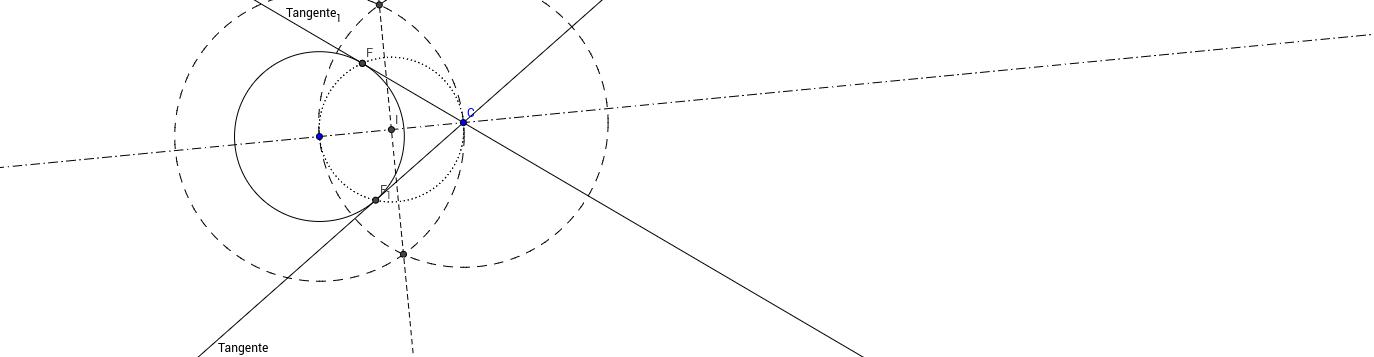 Recta Tangente a una Circunferencia por un punto fuera de el