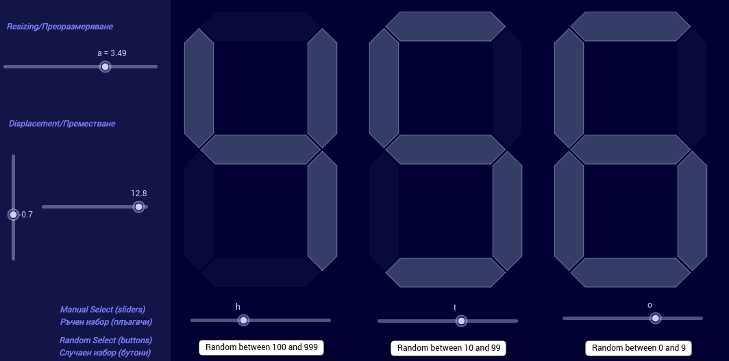 The numbers between 0 and 999.