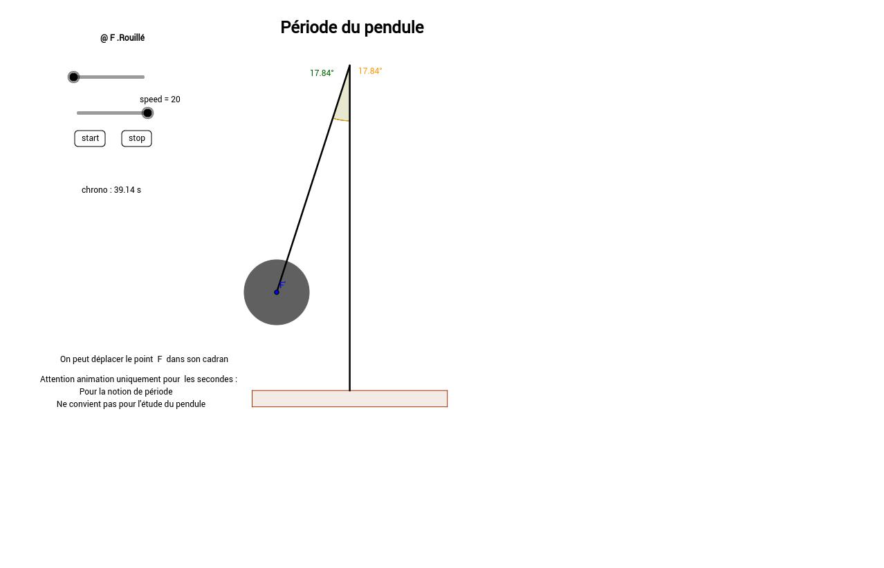 Période du pendule seconde