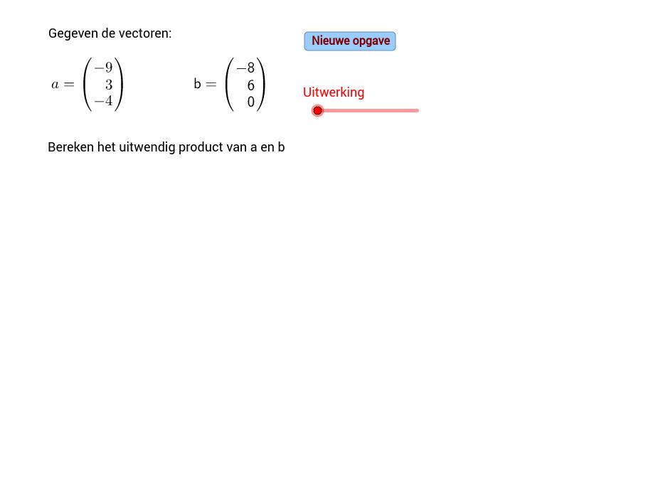 Uitwendig product twee vectoren