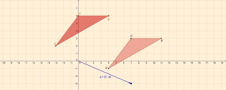 Traslación de triángulo por vector