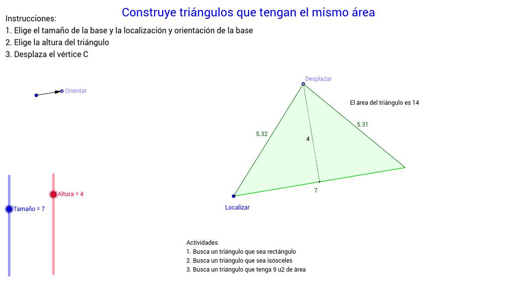 Triángulos equivalentes