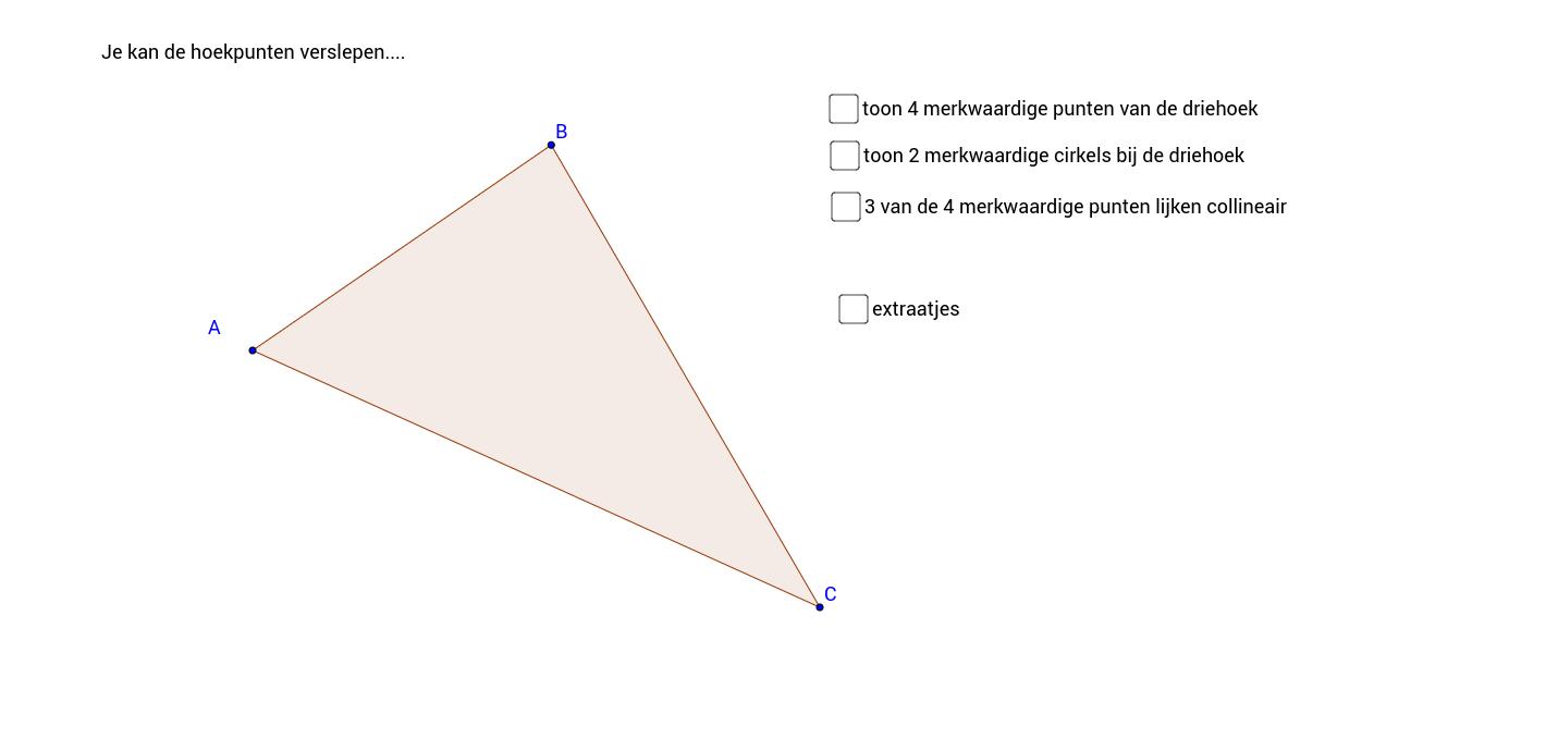 Bij een driehoek hoort veel meer dan drie hoekpunten en drie zijden...