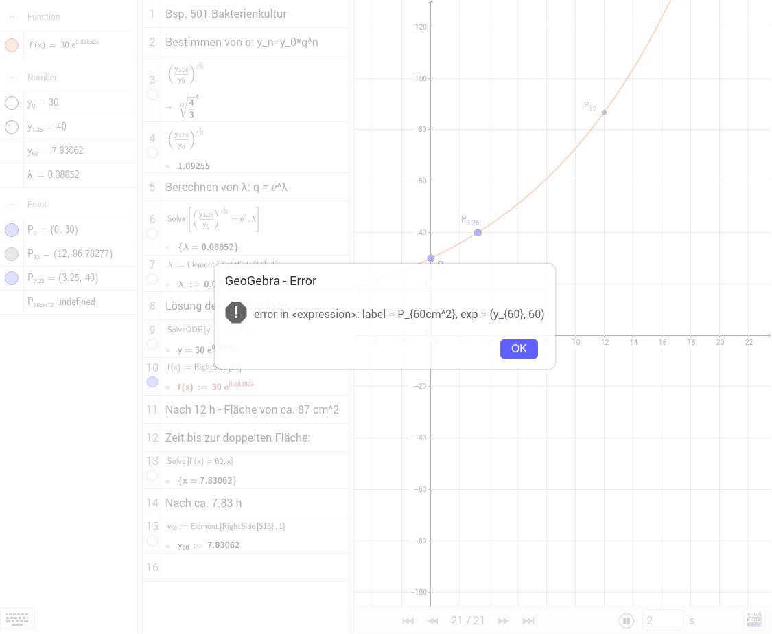 Bsp 501 kont. exp. Wachstum / tm 8. KL S127