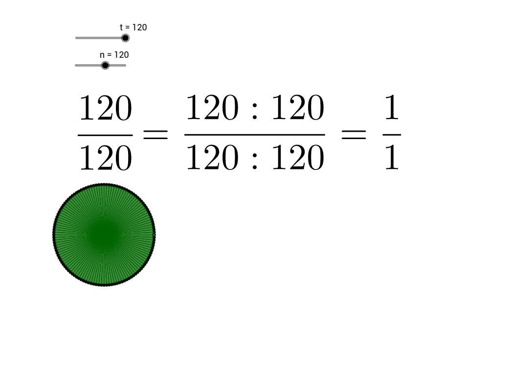 Visualisering af en brøk