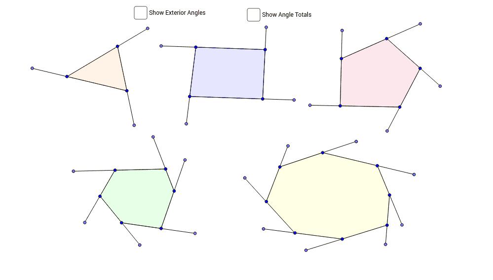 polygon exterior angle sum theorem geogebra. Black Bedroom Furniture Sets. Home Design Ideas