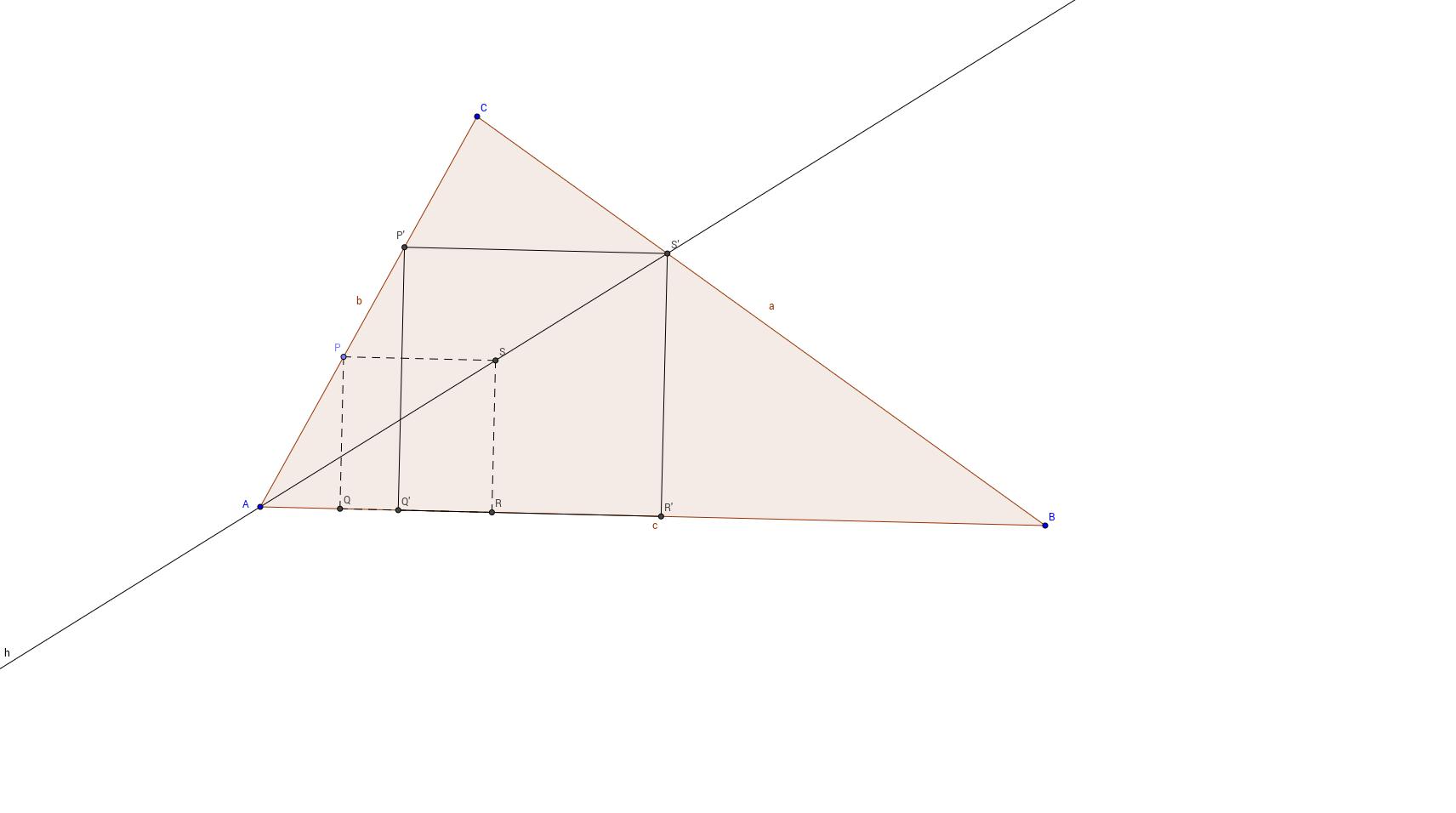 Háromszögbe szerkesztett négyzet