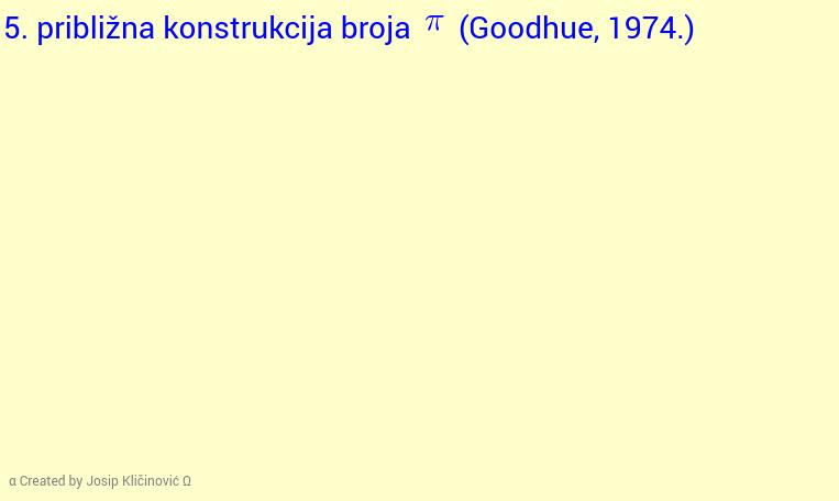Približna konstrukcija broja pi (Goodhue, 1974.)