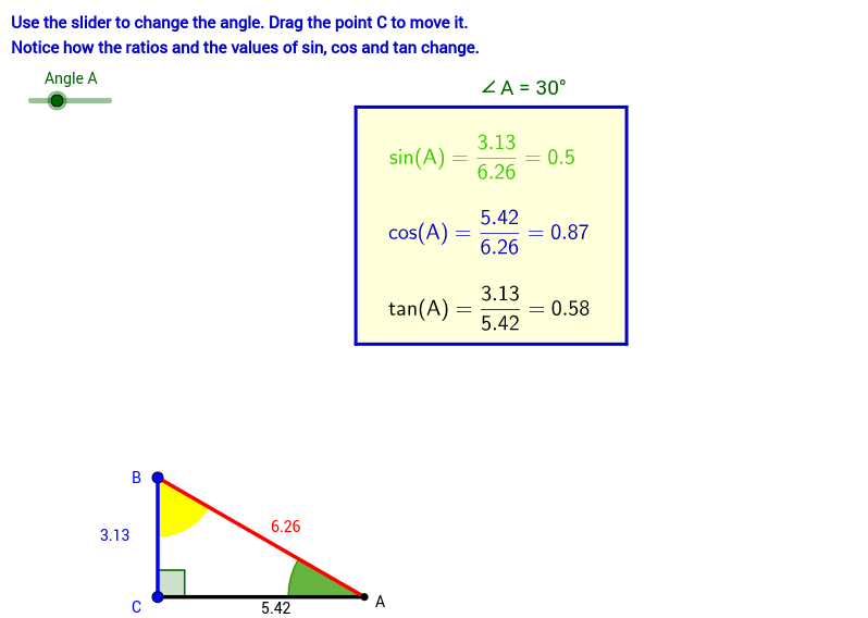 Sin, Cos and Tan - Right Angled Triangles