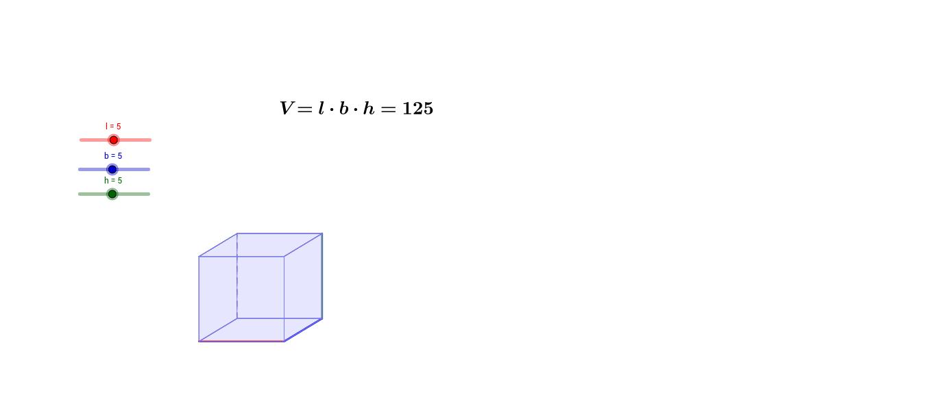 Prisme med glidere som variabler