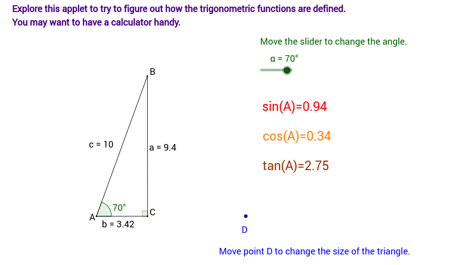 Sect 9.5 Activity -  Discovering Trig Functions