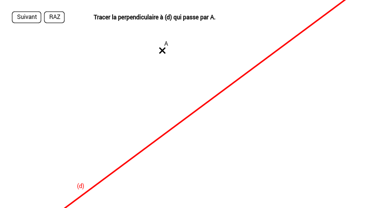 Tracer une perpendiculaire