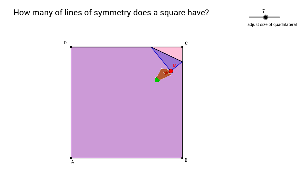 Copy of Lines of Symmetry for a Square