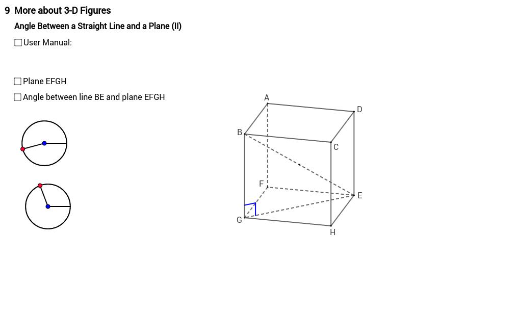 Angle between line and plane 2