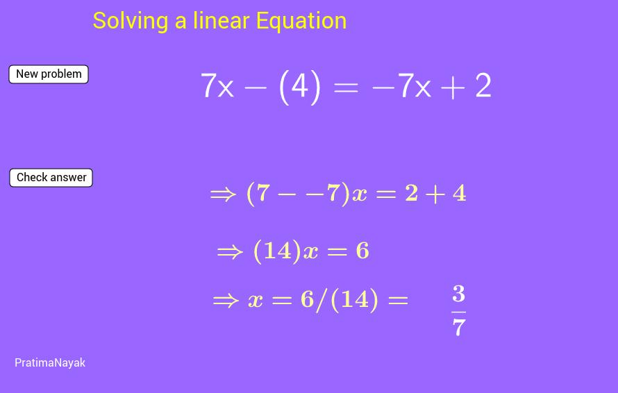 Solve linear equation work sheet-2