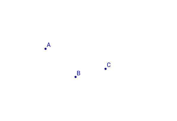 Esistenza e unicità della circonferenza per tre punti
