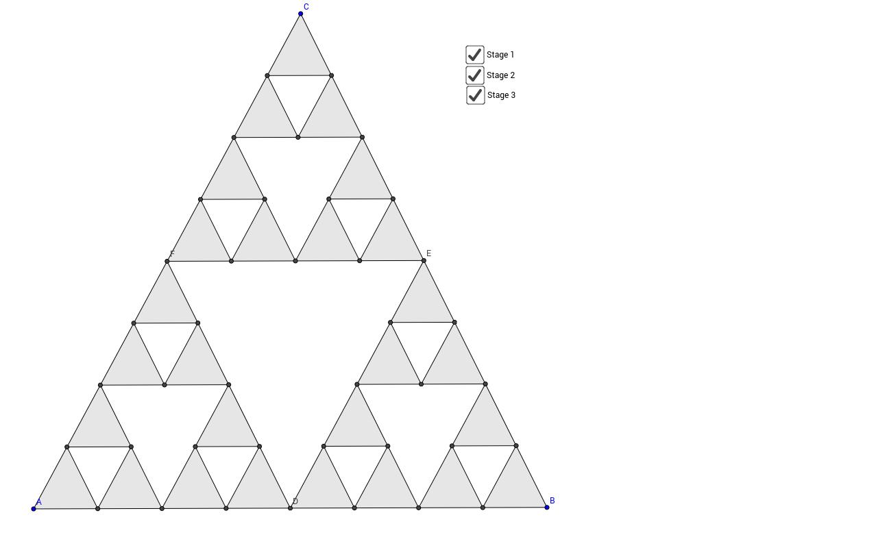 Worksheets Sierpinski Triangle Worksheet sierpinski triangle geogebra view worksheet
