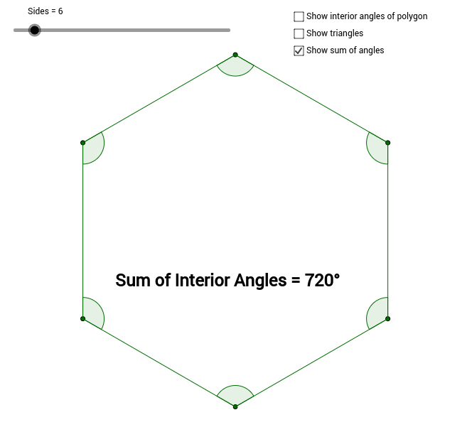 Sum of the Interior Angles of a Polygon GeoGebra