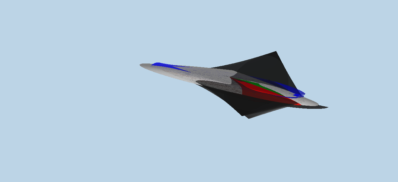 3D aereo supersonico