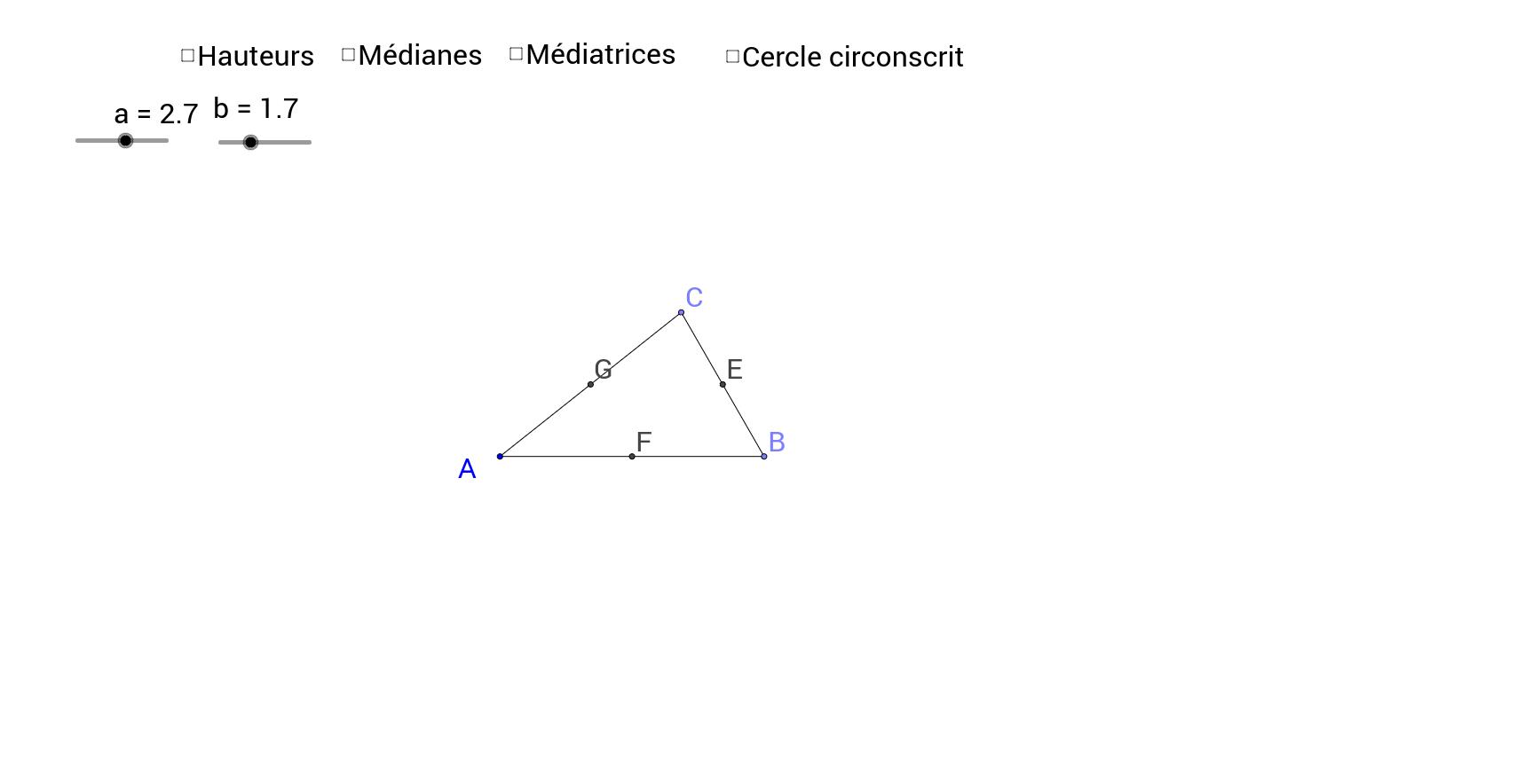 Droites remarquables du triangle