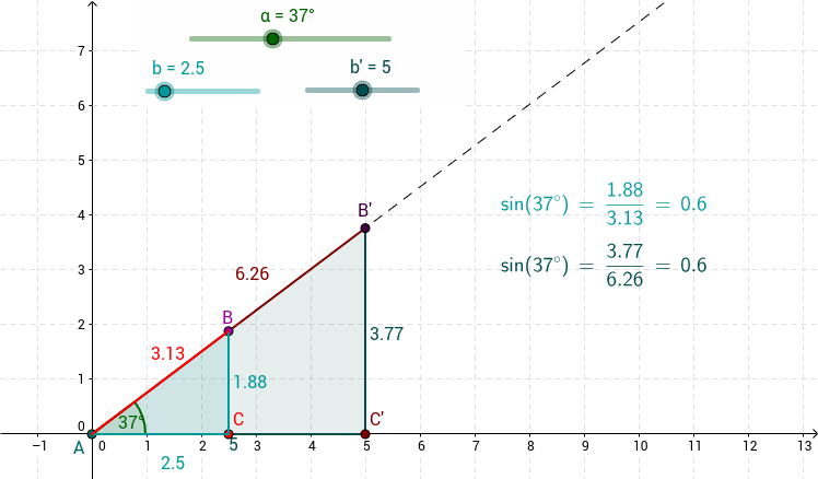 Sine Values and Nested Triangles