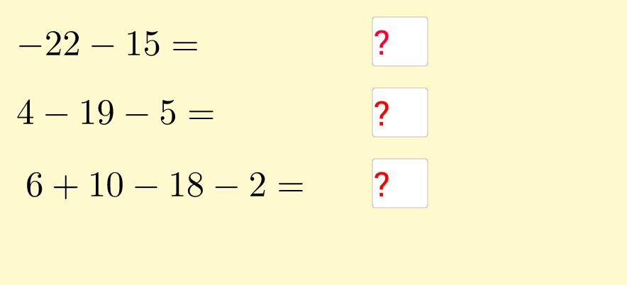 Sumes i restes nombres enters. Exercicis