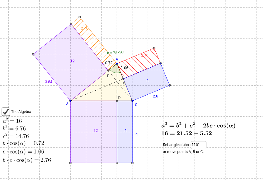 Law of Cosines GeoGebra – Law of Cosine Worksheet